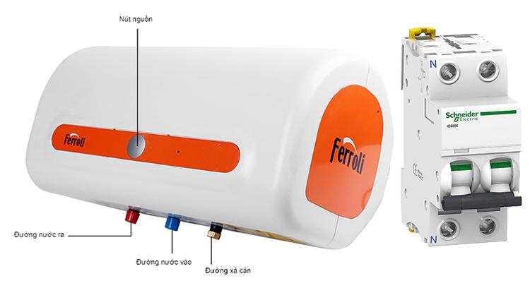 Aptomat chống giật cho bình nóng lạnh