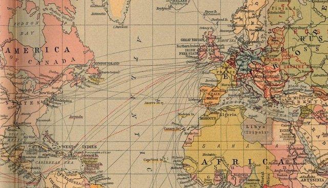 Bản đồ giao thương năm 1912