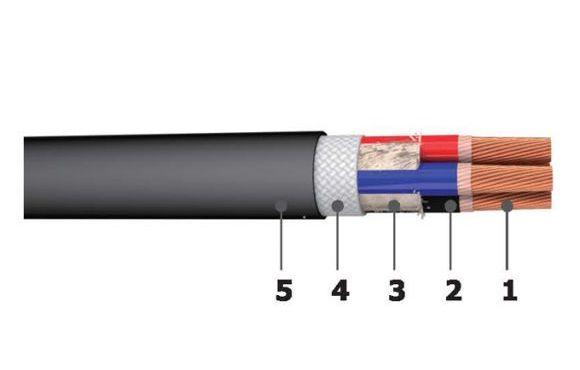 Cáp điện nhiều lõi vỏ bọc cao su 450/750V