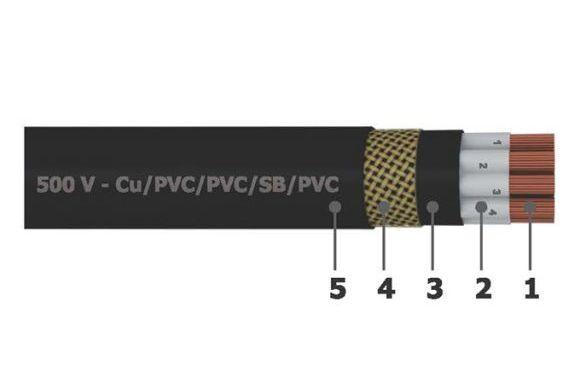Cáp điều khiển ruột mềm có mán chắn 300/500V