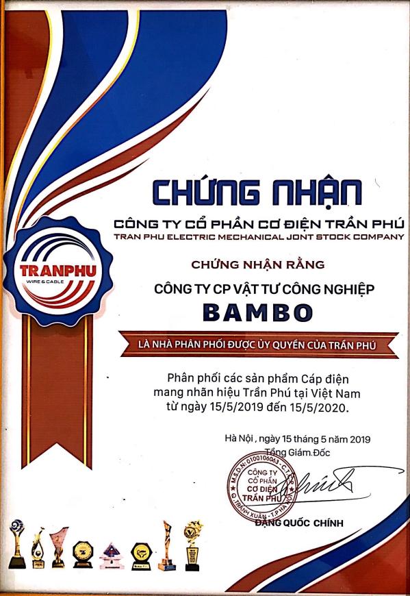 Chứng nhận đại lý ủy quyền Trần Phú