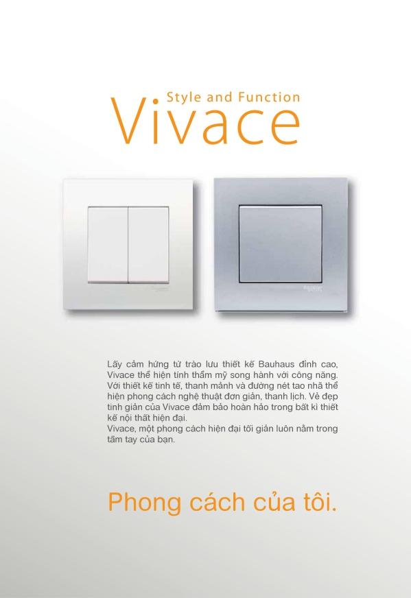 Công tắc ổ cắm Vivace thiết kế tinh tế