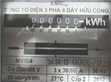 Công tơ điện 3 pha trực tiếp 30(60A)
