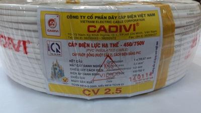 Dây cáp điện Cadivi CV 2.5