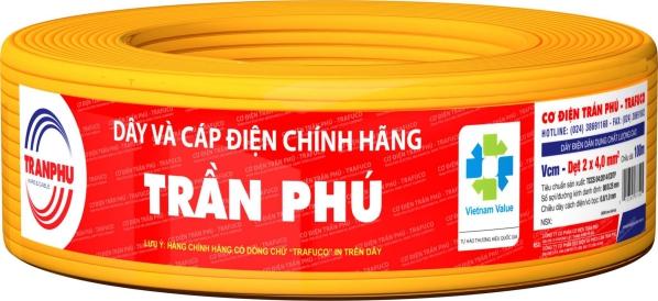 Dây cáp điện Trần Phú chính hãng