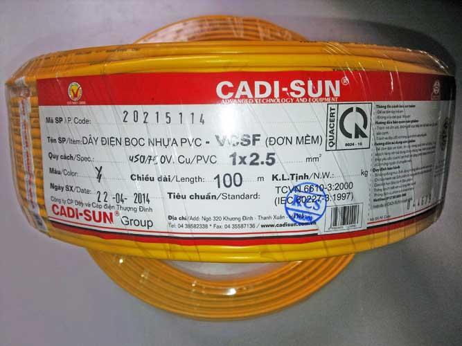 Dây điện Cadisun đơn mềm