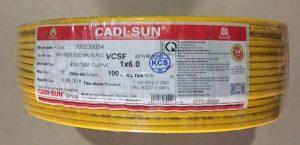 Dây điện Cadisun 1x4mm2 chính hãng