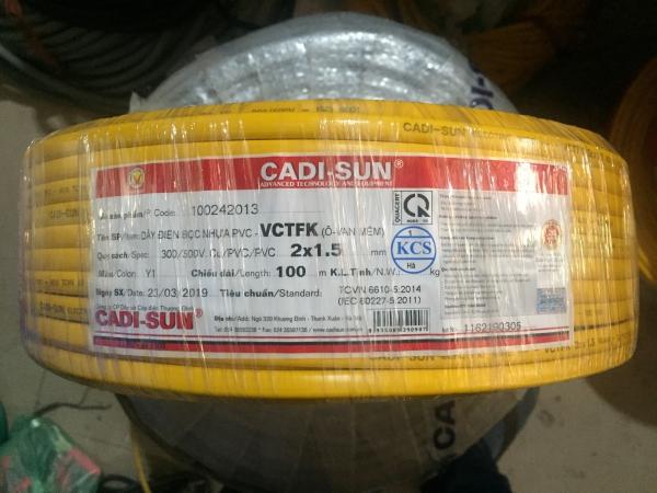 Dây điện Cadisun 2x1.5 dây ovan