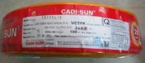 Dây điện ô – van mềm VCTDK 2x4mm2