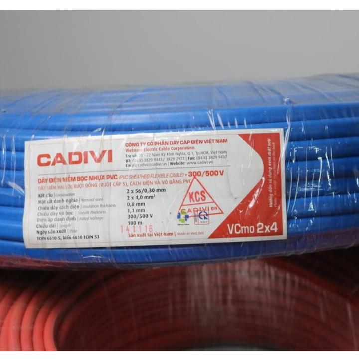 Dây điện Cadivi VCmo 2x4