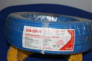 Dây điện Cadivi đơn mềm VCm 6.0