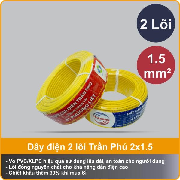 Dây điện Trần Phú VCm 2x1.5 chính hãng
