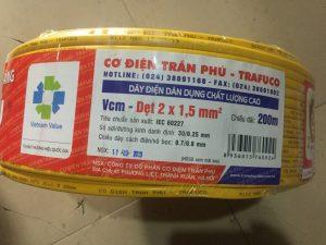 Dây điện Trân Phú VCm 2x1.0