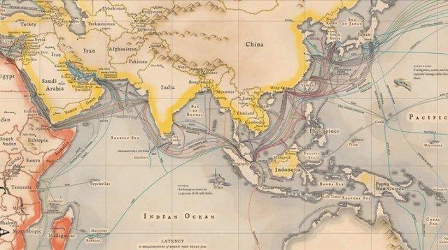Hệ thống cáp quang biển cho mạng internet