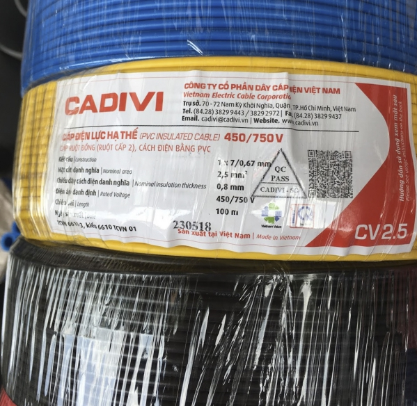 Hướng dẫn chọn mua dây cáp điện 2.5